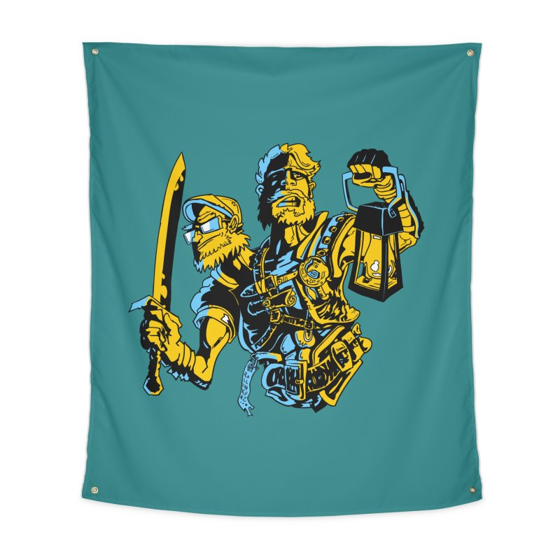 2-Headed Hero Home Tapestry by