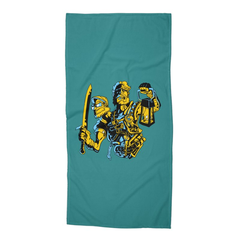 2-Headed Hero Accessories Beach Towel by