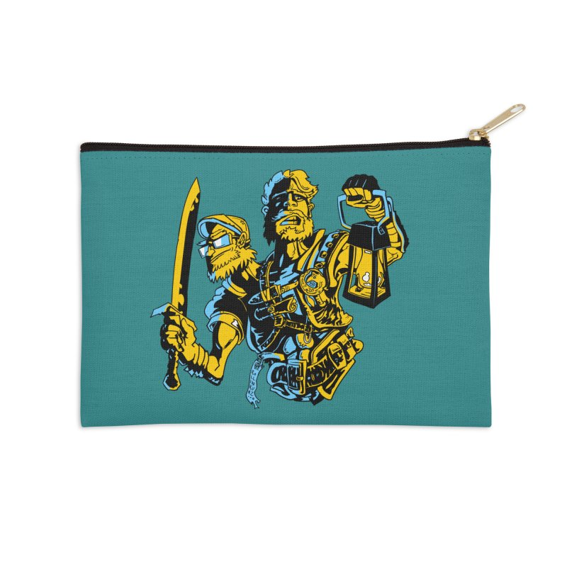 2-Headed Hero Accessories Zip Pouch by