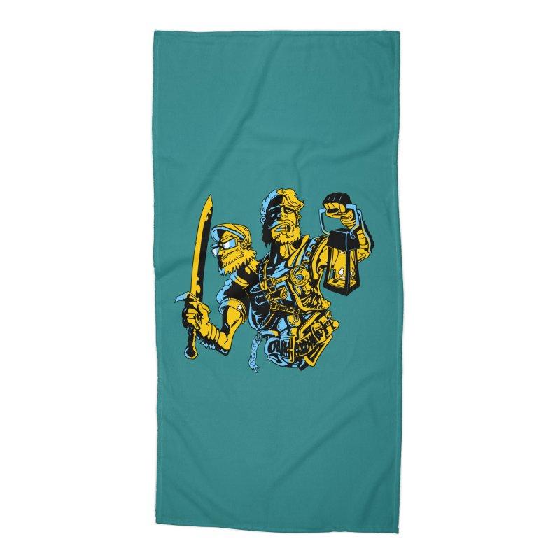 2-Headed Hero Accessories Beach Towel by