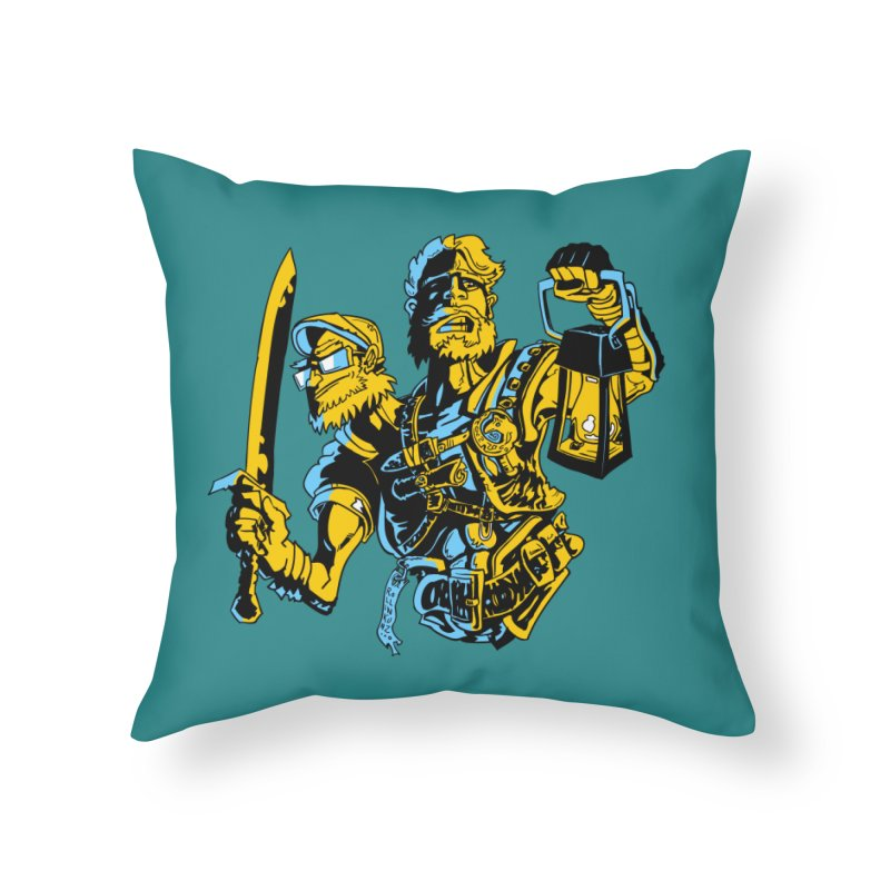 2-Headed Hero Home Throw Pillow by