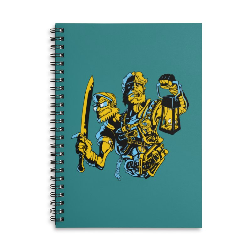 2-Headed Hero Accessories Lined Spiral Notebook by