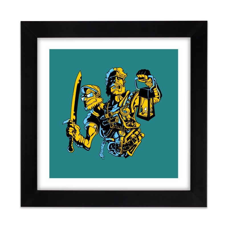 2-Headed Hero Home Framed Fine Art Print by