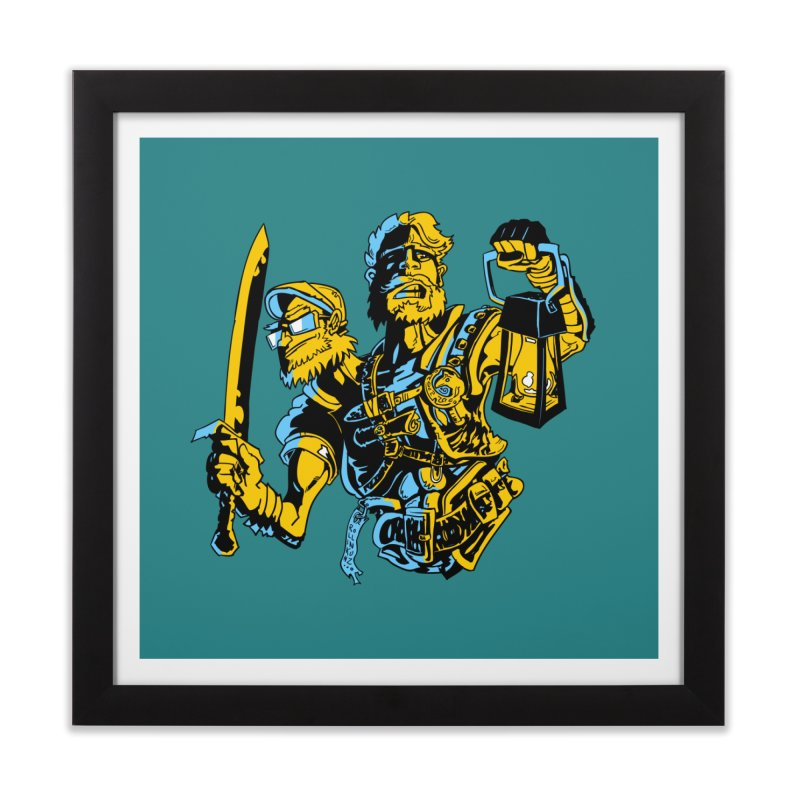 2-Headed Hero Home Framed Fine Art Print by