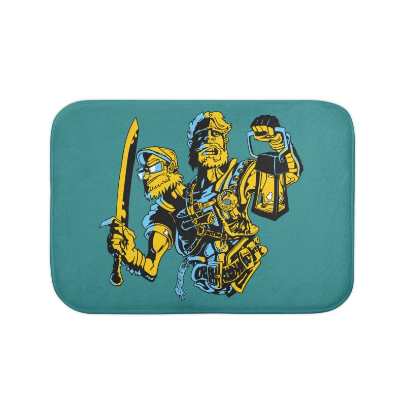 2-Headed Hero Home Bath Mat by