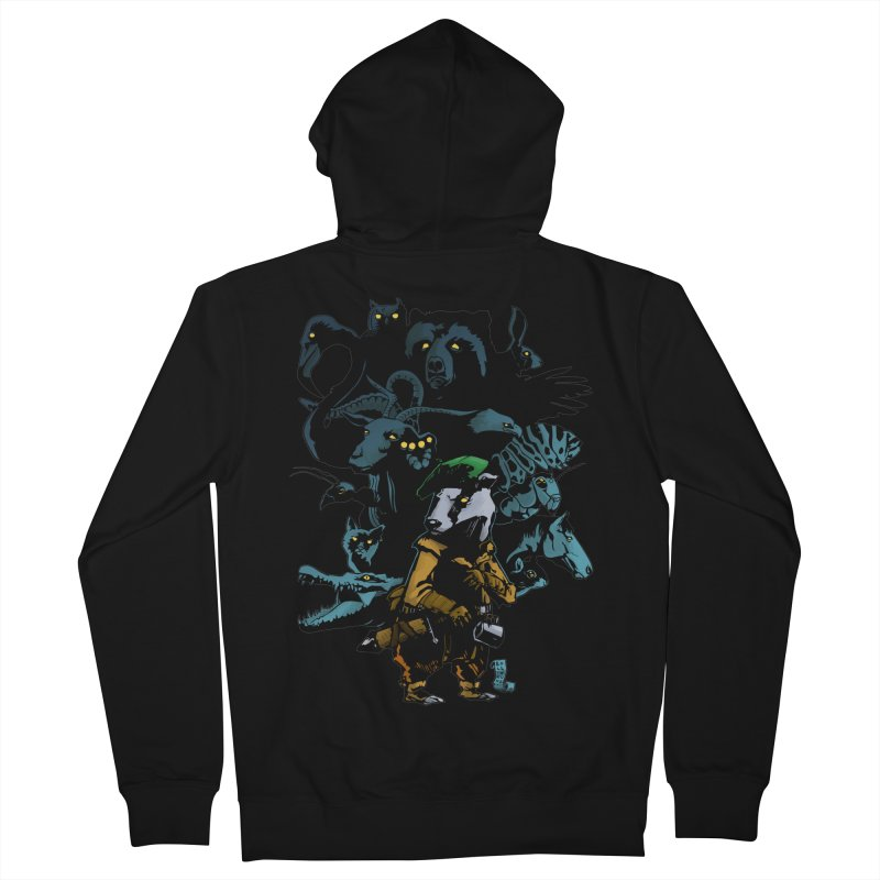 Chunt, King of the Badger Men's French Terry Zip-Up Hoody by