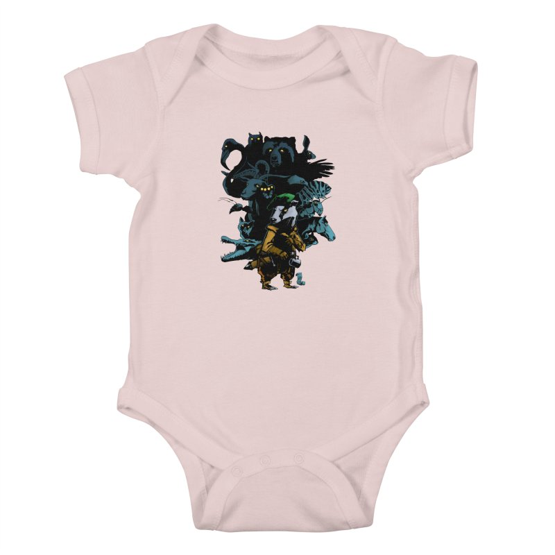 Chunt, King of the Badger Kids Baby Bodysuit by