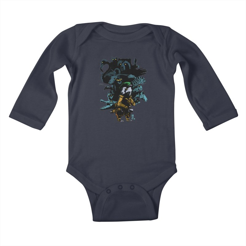 Chunt, King of the Badger Kids Baby Longsleeve Bodysuit by