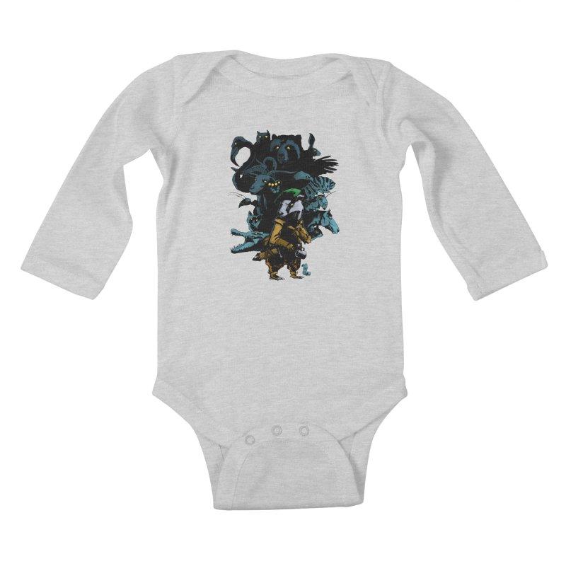 Chunt, King of the Badger Kids Baby Longsleeve Bodysuit by