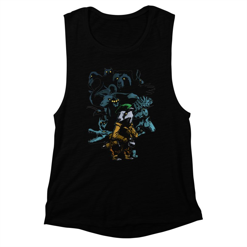 Chunt, King of the Badger Women's Muscle Tank by