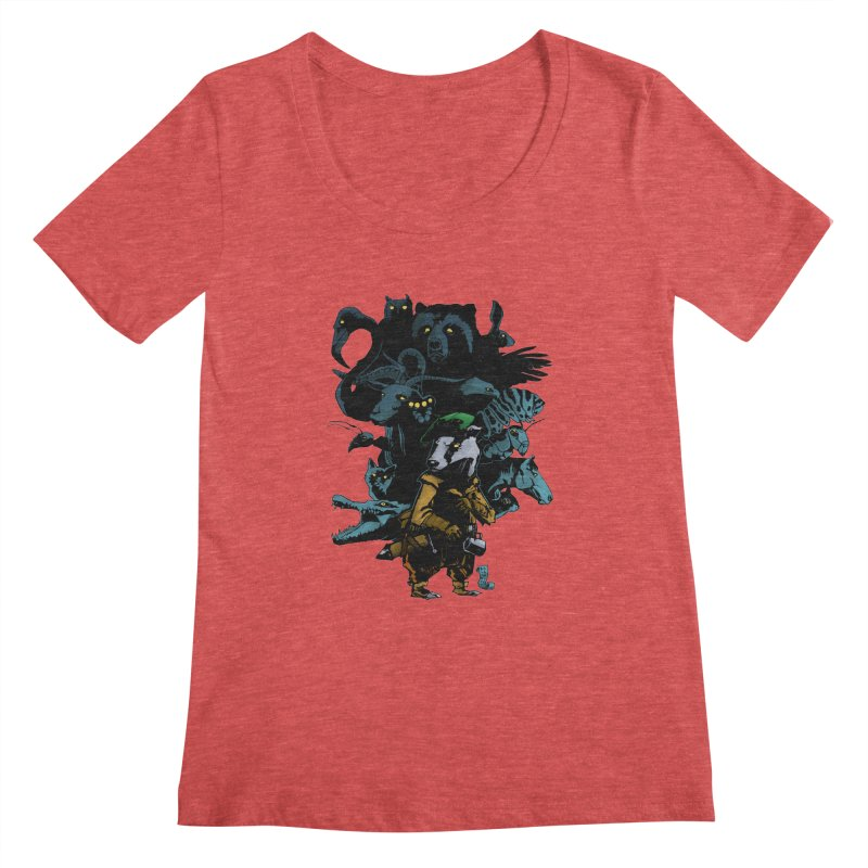 Chunt, King of the Badger Women's Scoopneck by