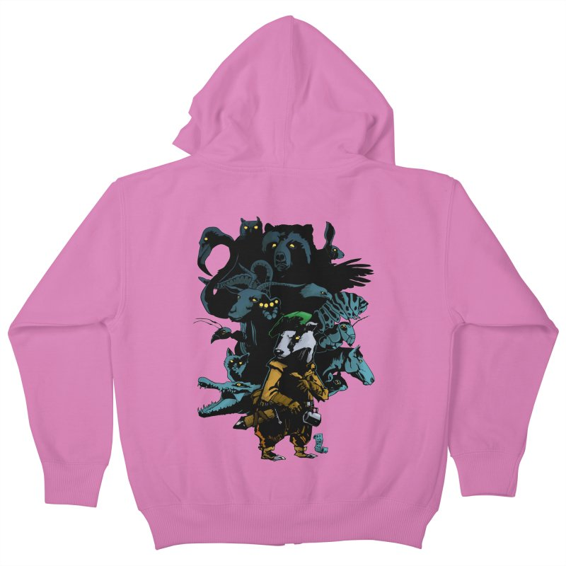 Chunt, King of the Badger Kids Zip-Up Hoody by