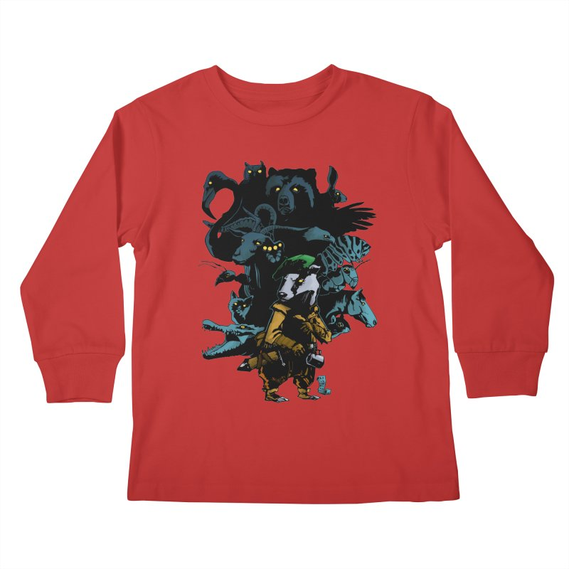 Chunt, King of the Badger Kids Longsleeve T-Shirt by