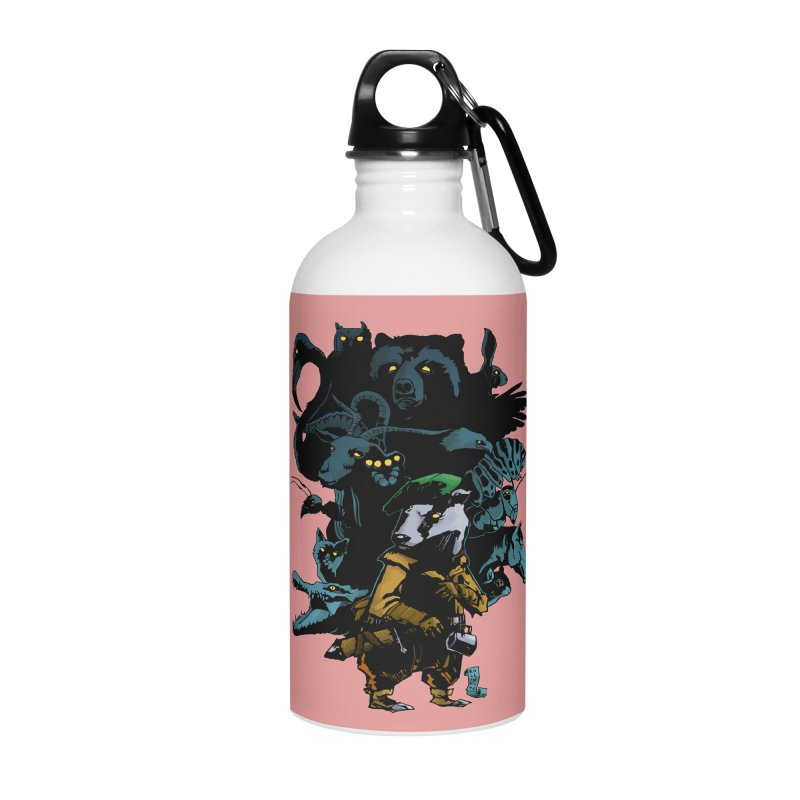 Chunt, King of the Badger Accessories Water Bottle by