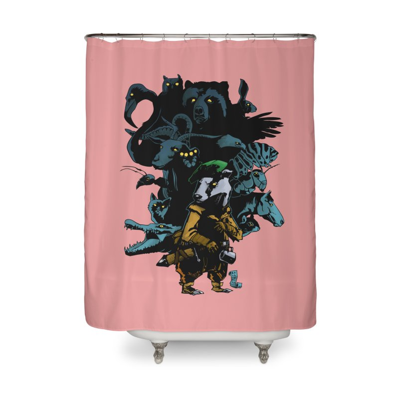 Chunt, King of the Badger Home Shower Curtain by