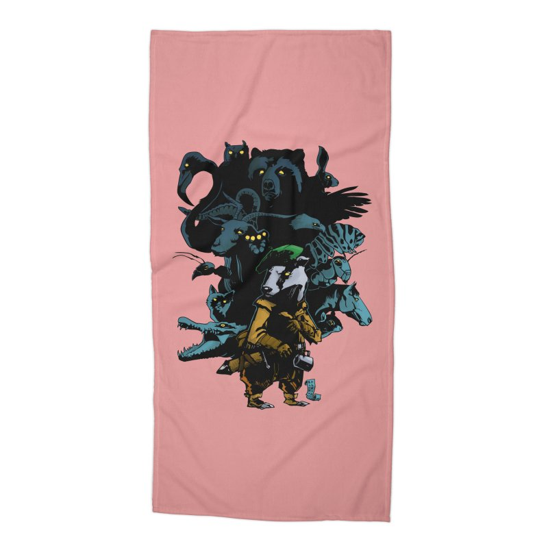 Chunt, King of the Badger Accessories Beach Towel by