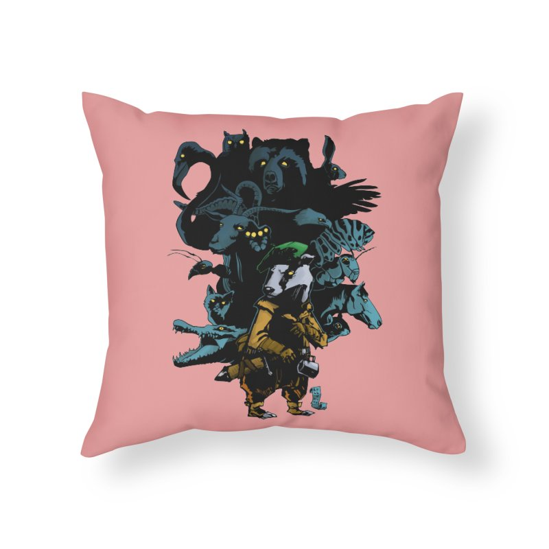 Chunt, King of the Badger Home Throw Pillow by