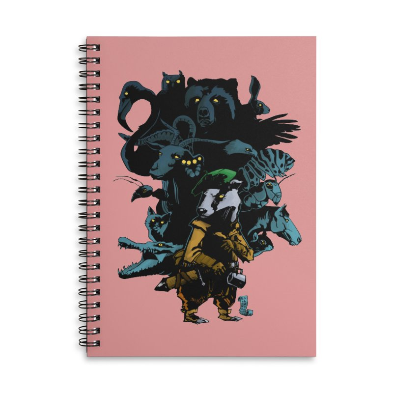 Chunt, King of the Badger Accessories Lined Spiral Notebook by