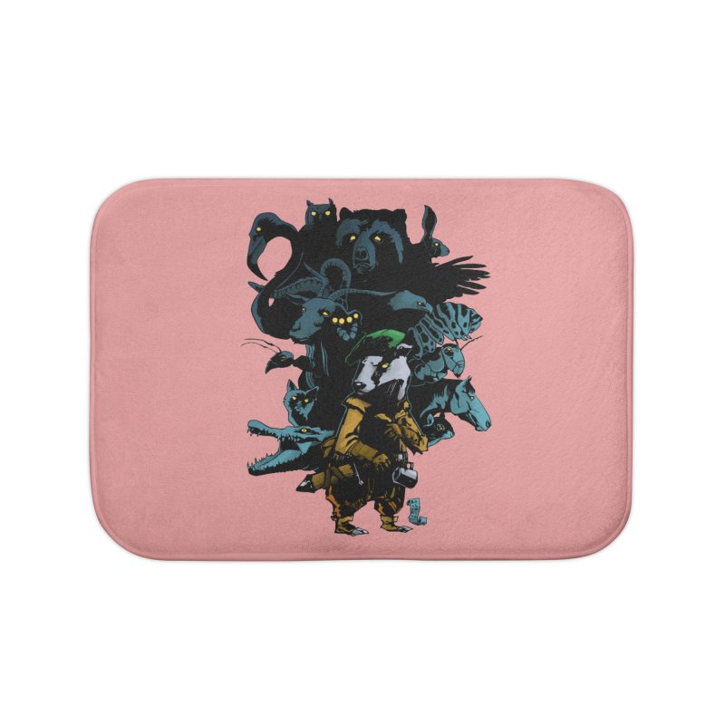 Chunt, King of the Badger Home Bath Mat by