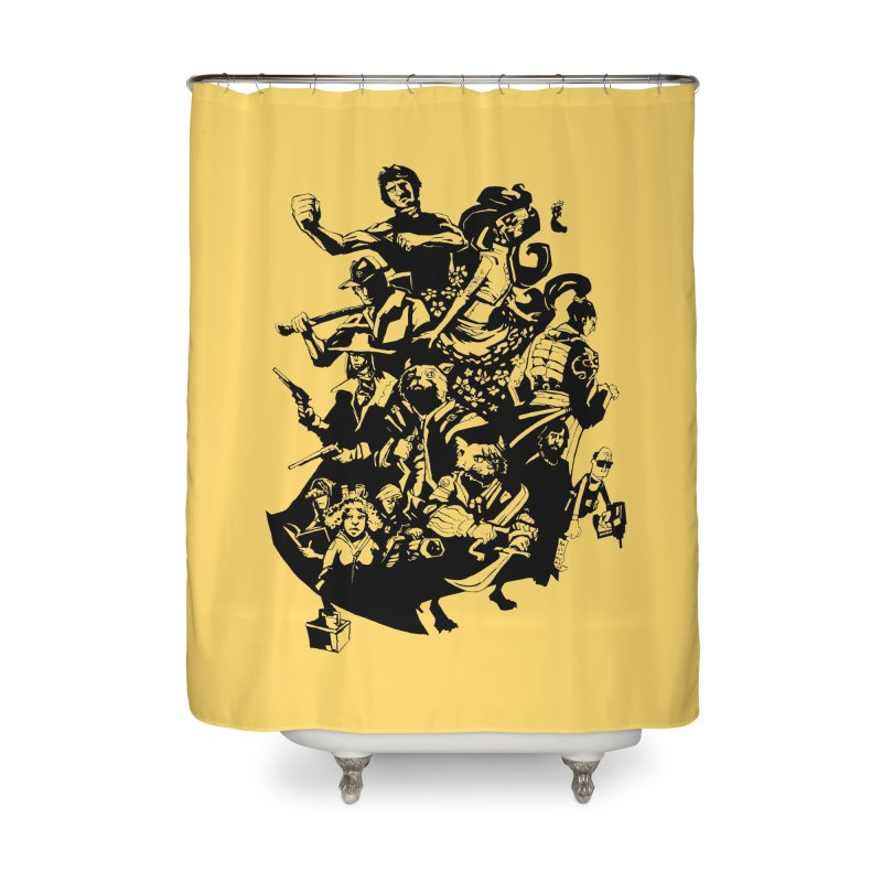 One Shot Roundup Home Shower Curtain by