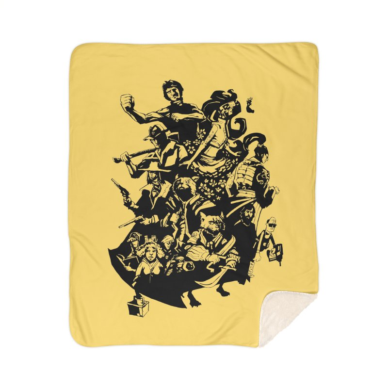 One Shot Roundup Home Sherpa Blanket Blanket by