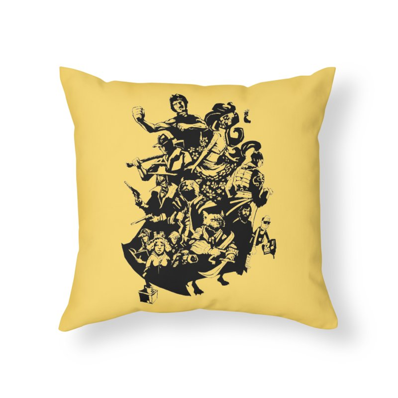 One Shot Roundup Home Throw Pillow by