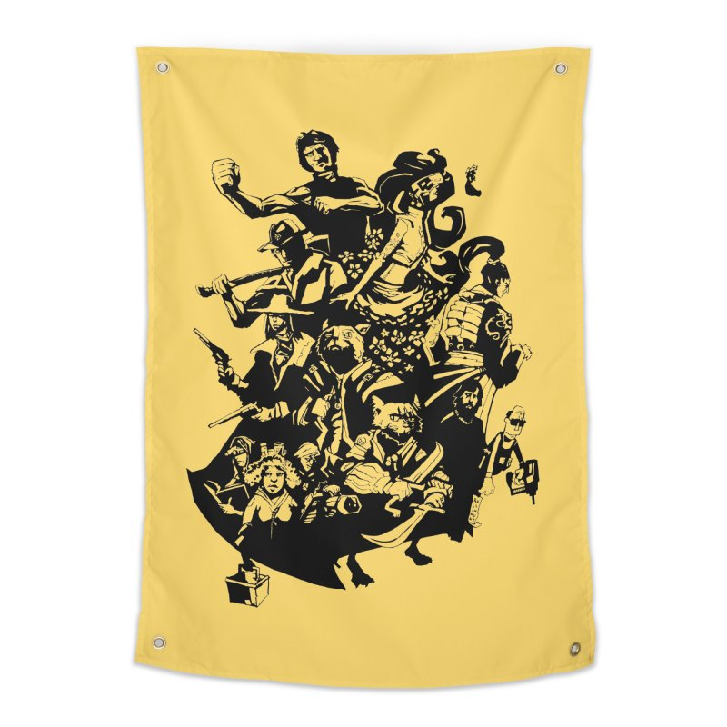 One Shot Roundup Home Tapestry by