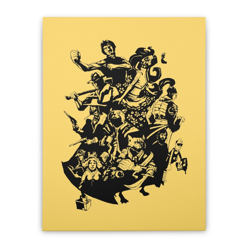 One Shot Roundup Home Stretched Canvas by