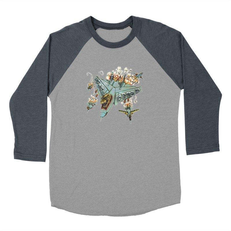Tyrannosquadron Rocks Men's Baseball Triblend Longsleeve T-Shirt by