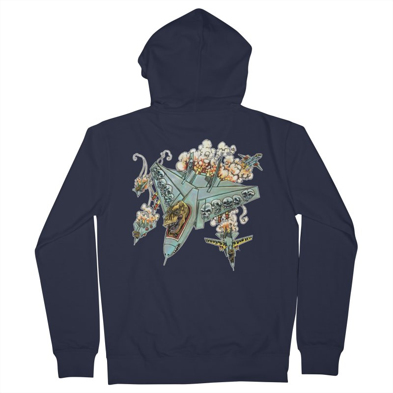 Tyrannosquadron Rocks Men's Zip-Up Hoody by