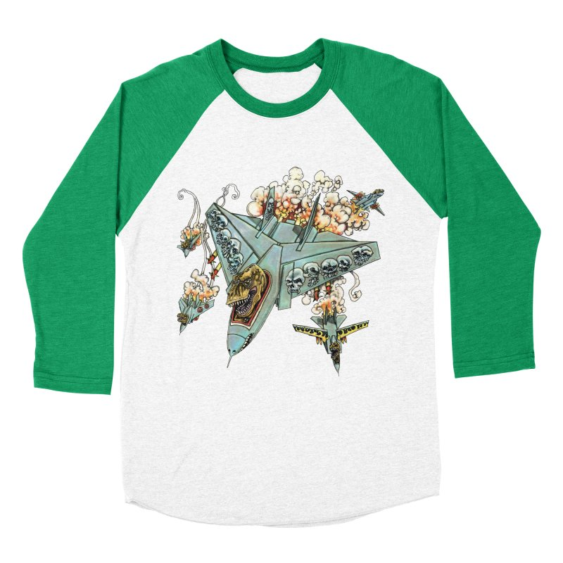 Tyrannosquadron Rocks Women's Baseball Triblend T-Shirt by