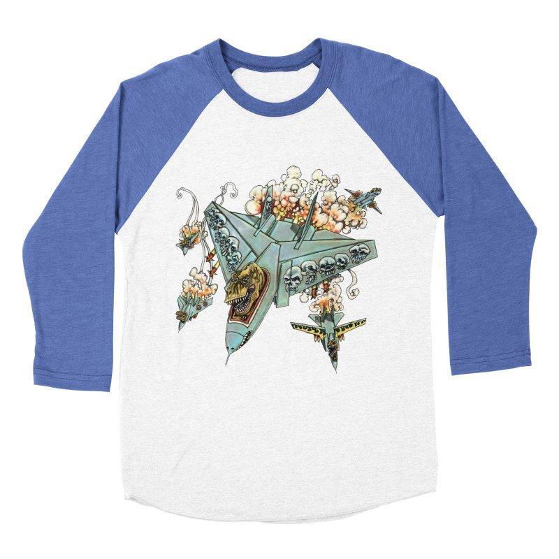Tyrannosquadron Rocks Men's Baseball Triblend T-Shirt by
