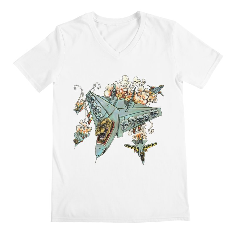 Tyrannosquadron Rocks Men's V-Neck by