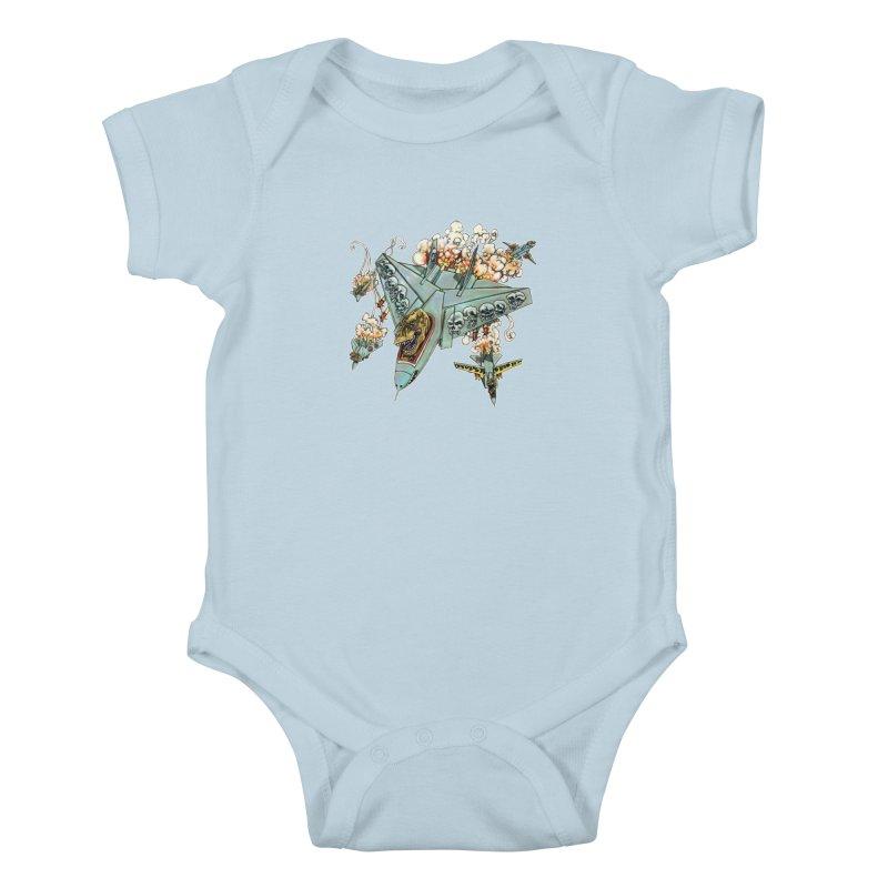 Tyrannosquadron Rocks Kids Baby Bodysuit by