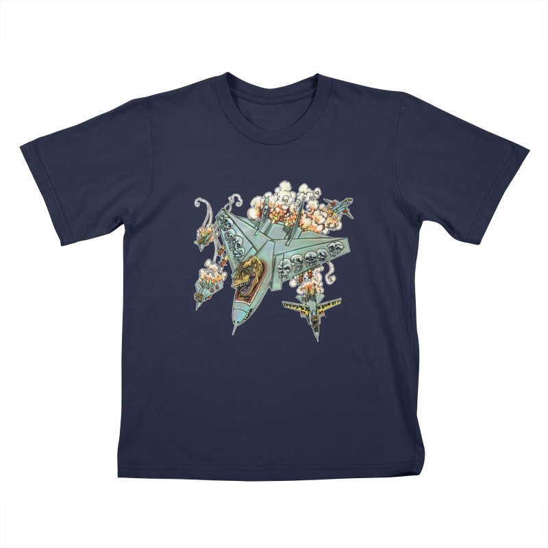 Tyrannosquadron Rocks Kids T-Shirt by