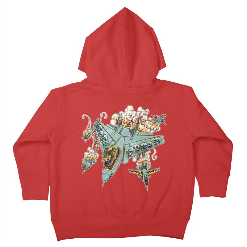 Tyrannosquadron Rocks Kids Toddler Zip-Up Hoody by
