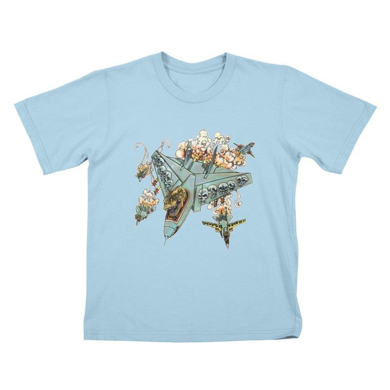 Tyrannosquadron Rocks Kids T-Shirt by