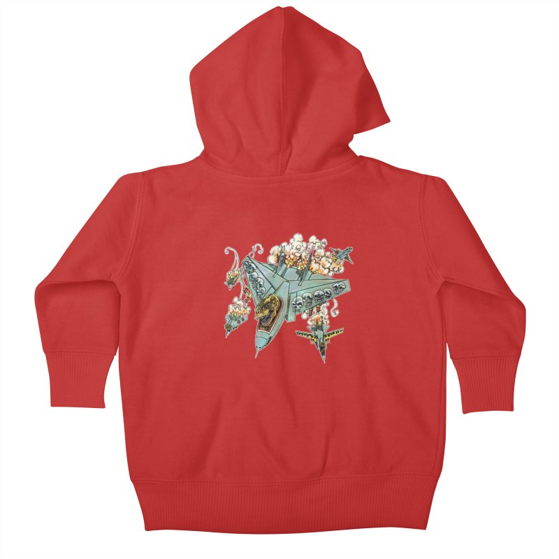 Tyrannosquadron Rocks Kids Baby Zip-Up Hoody by