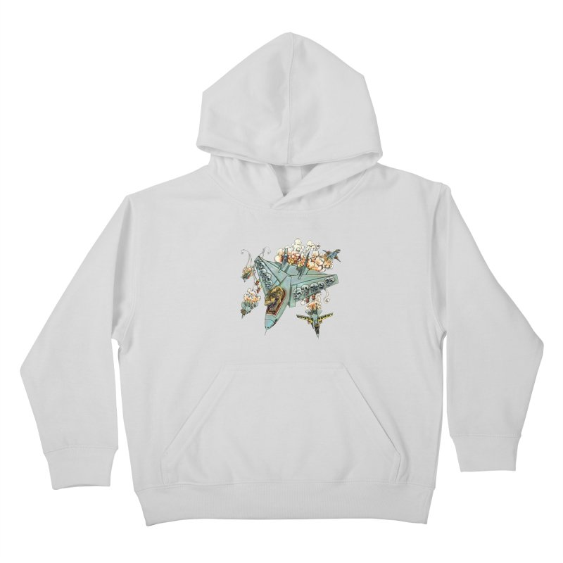 Tyrannosquadron Rocks Kids Pullover Hoody by