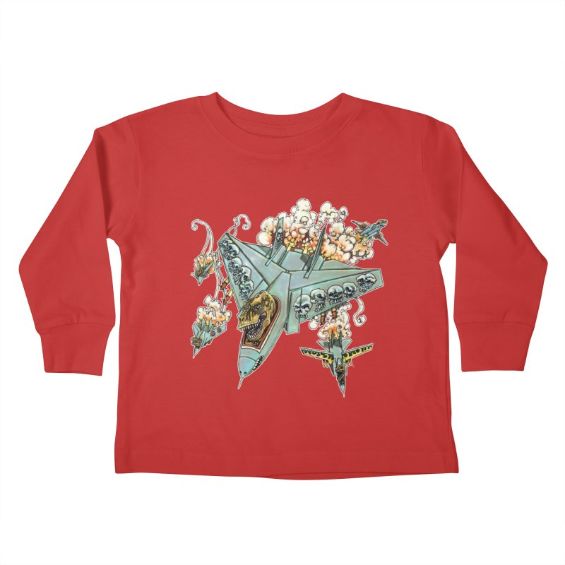 Tyrannosquadron Rocks Kids Toddler Longsleeve T-Shirt by