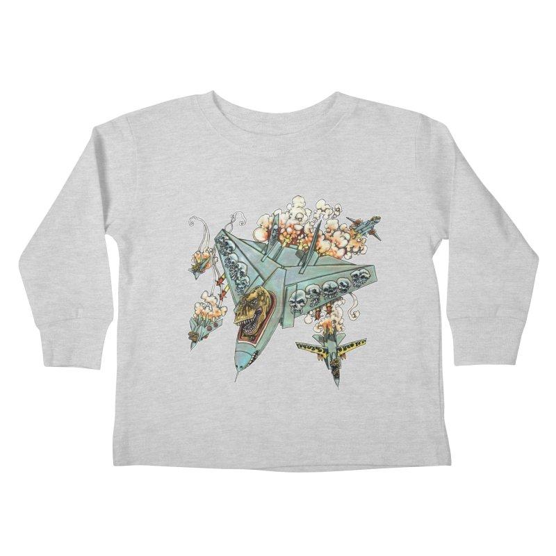 Tyrannosquadron Rocks Kids Toddler Longsleeve T-Shirt by