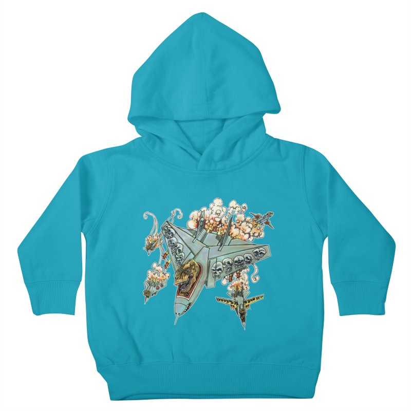 Tyrannosquadron Rocks Kids Toddler Pullover Hoody by