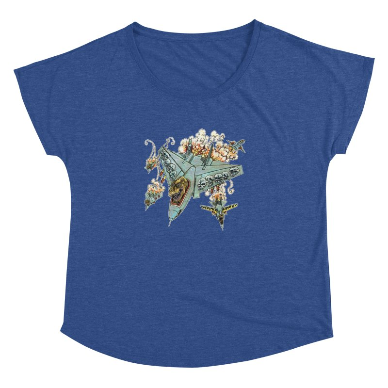 Tyrannosquadron Rocks Women's Dolman Scoop Neck by