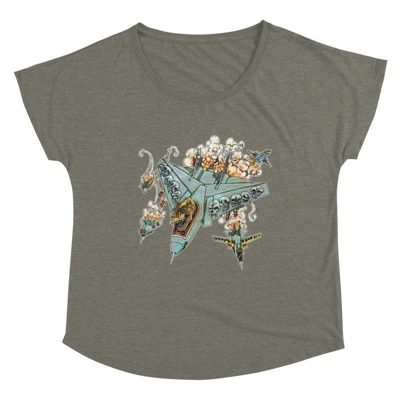 Tyrannosquadron Rocks Women's Dolman Scoop Neck by
