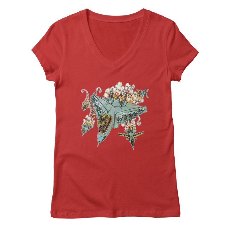 Tyrannosquadron Rocks Women's V-Neck by