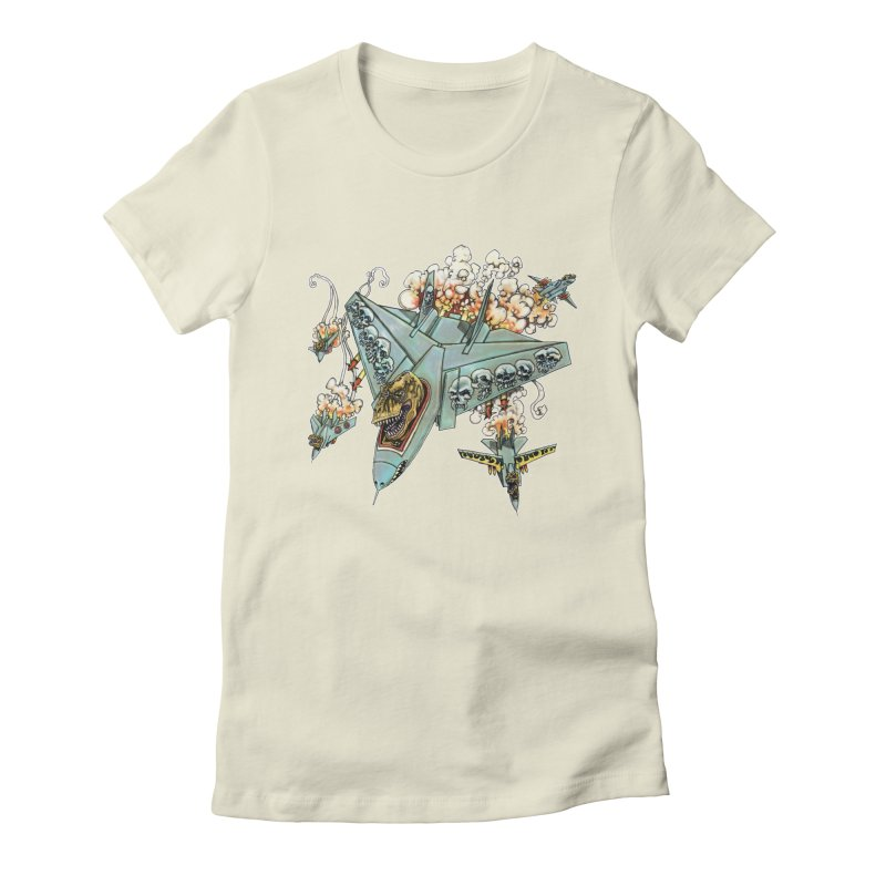 Tyrannosquadron Rocks Women's Fitted T-Shirt by