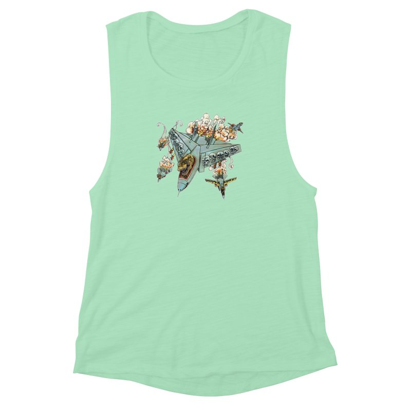 Tyrannosquadron Rocks Women's Muscle Tank by