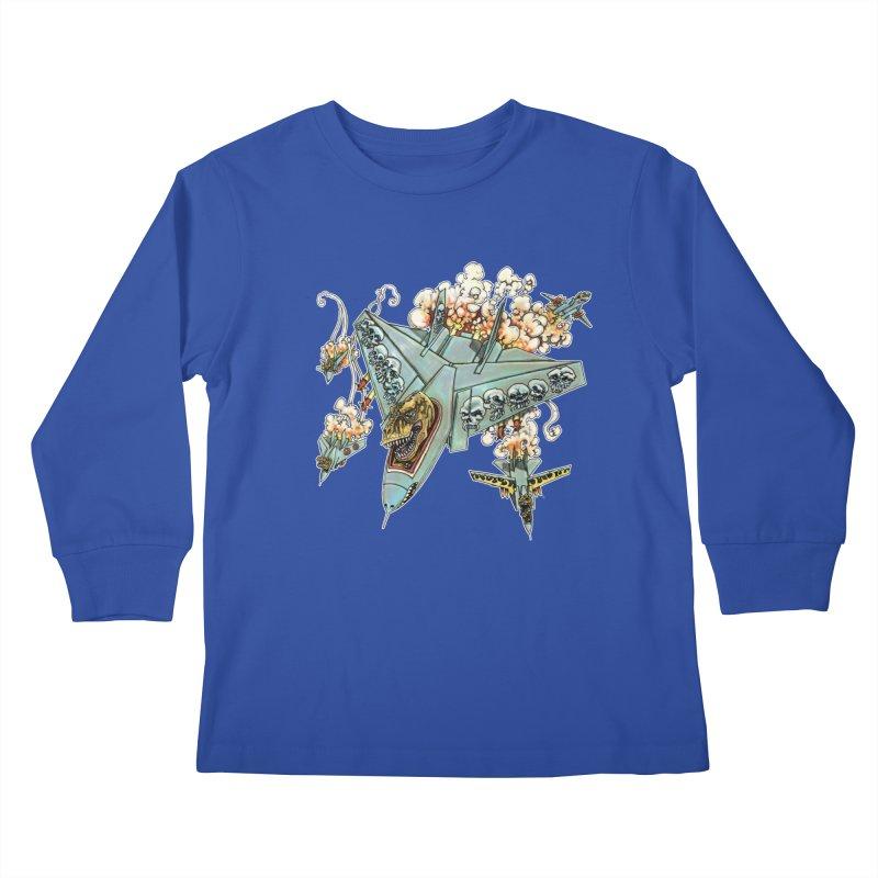 Tyrannosquadron Rocks Kids Longsleeve T-Shirt by