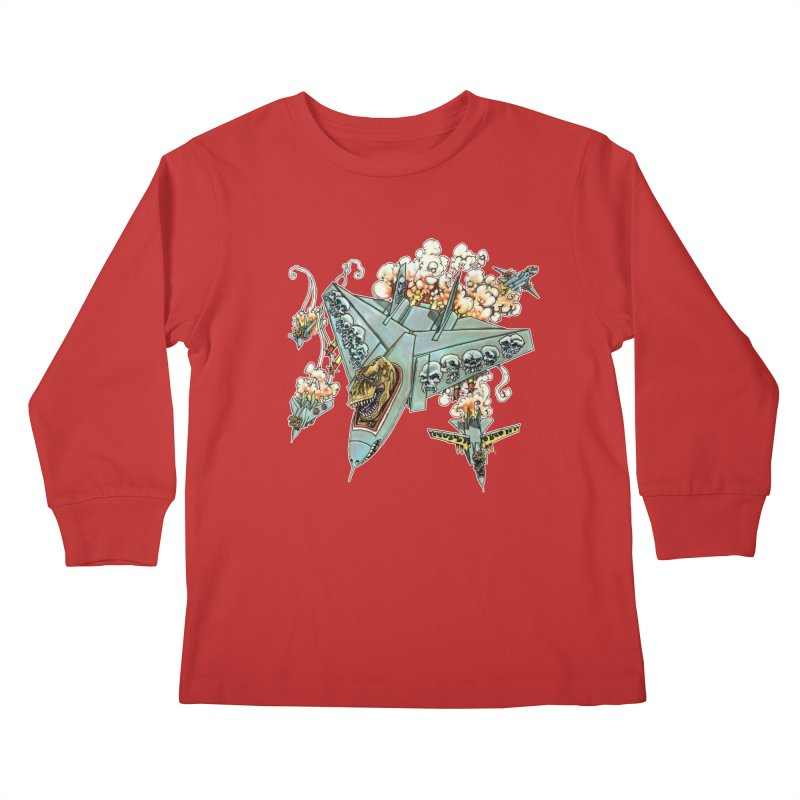 Tyrannosquadron Rocks Kids Longsleeve T-Shirt by