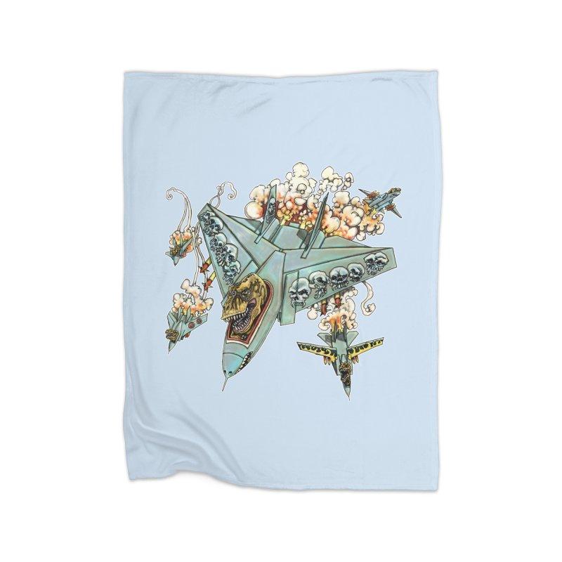 Tyrannosquadron Rocks Home Fleece Blanket Blanket by